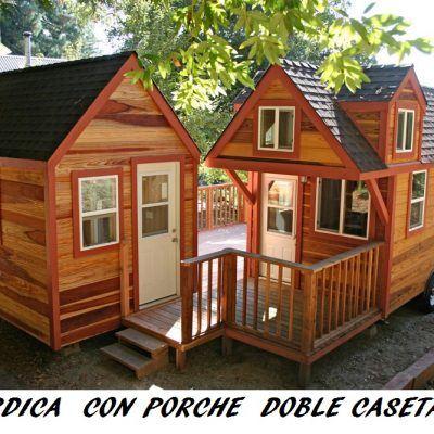 Nórdica con porche doble caseta